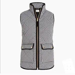 J.Crew Women's Houndstooth Puffer Vest
